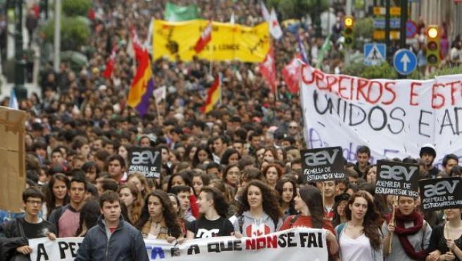 Manifestación de estudiantes.