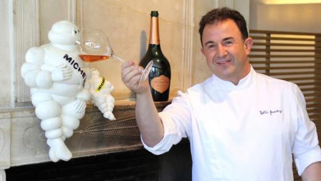 El cocinero Martín Berasategui, reconocido con siete estrellas Michelin.