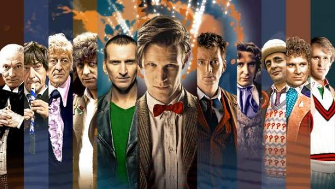Las 11 encarnaciones que el Doctor ha tenido hasta el momento.
