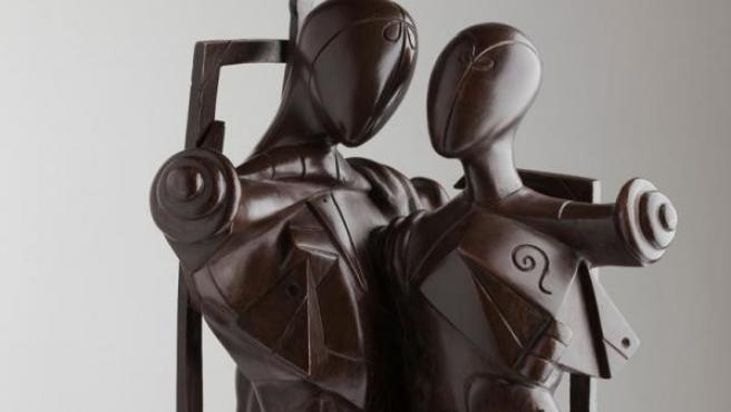 'Héctor y Andrómaca' (1968), obra de Giorgio de Chirico basada en una pintura suya de 1912 y del mismo nombre