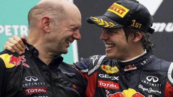 Adrian Newey y Vettel