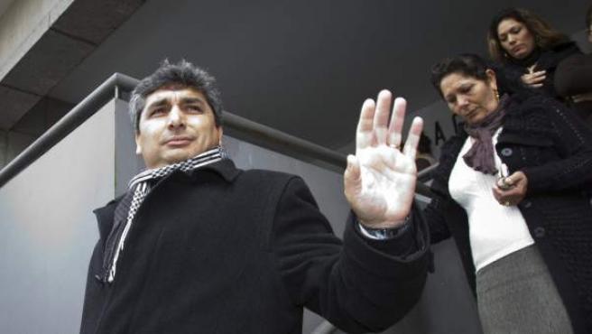 Juan José Cortés, padre de la niña asesinada Mari Luz, a su salida del Juzgado de Instrucción número 3 de Huelva.