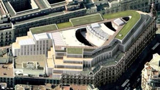 Recreación de la plaza de Canalejas, tras su reforma