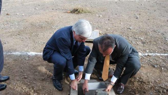 Colocación de la primera piedra de la escuela infantil de Arucas