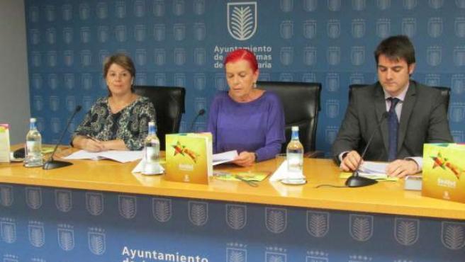 Carmen Guerra, María Isabel García Bolta y Jaime Romero