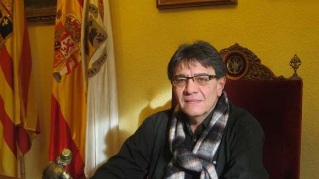 El alcalde de Borja, Francisco Miguel Arilla, en su despacho en el Ayuntamiento