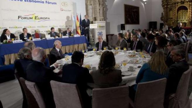 Francisco Conde en el desayuno de Nueva Economía Fórum