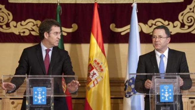 Feijóo se reúne con la Comisión de Coordinación del Norte de Portugal