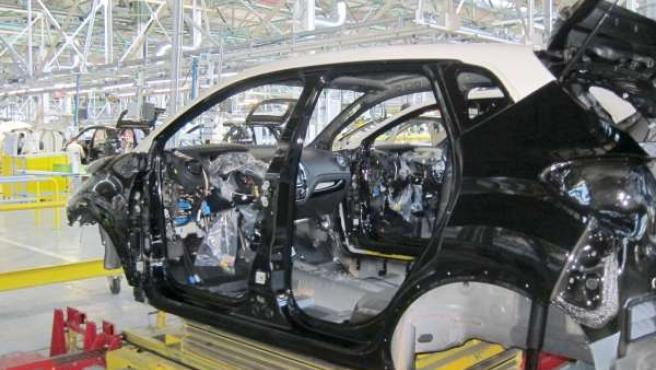 Cadena de montaje de la industria del automóvil