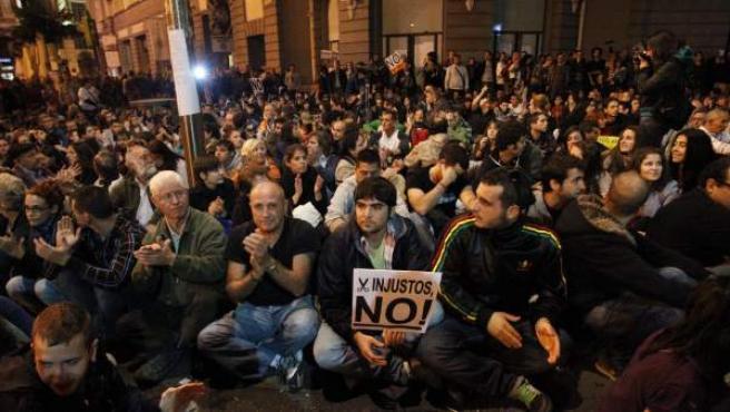 Imagen de una de las asambleas previas a la protesta del 23-O.