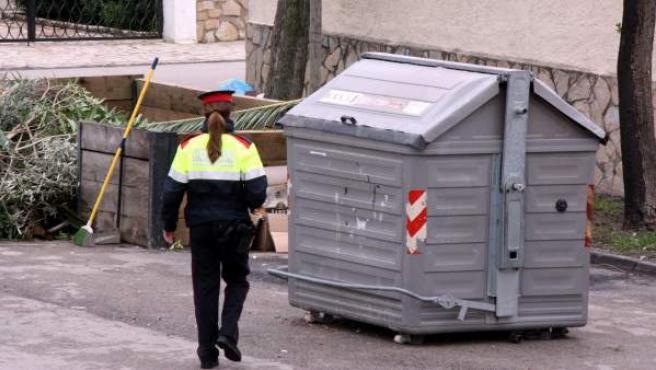 Un contenedor de basura, en una imagen de archivo.