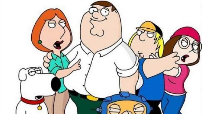 Los personajes principales de la serie de animación 'Padre de Familia'.