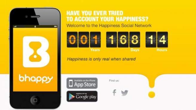 Web de la red social Bhappy.