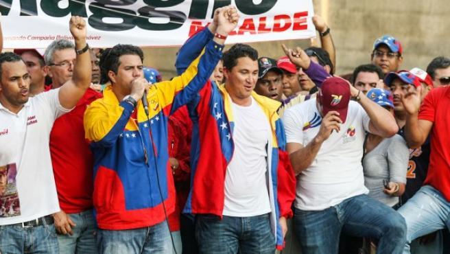 El candidato oficialista, Maglio Ordóñez, exbeisbolista, en las elecciones municipales venezolanas.