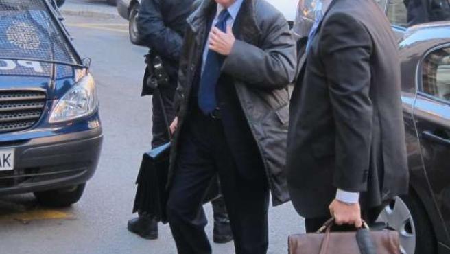 Jaume Matas, llegando a la Audiencia Provincial de Palma