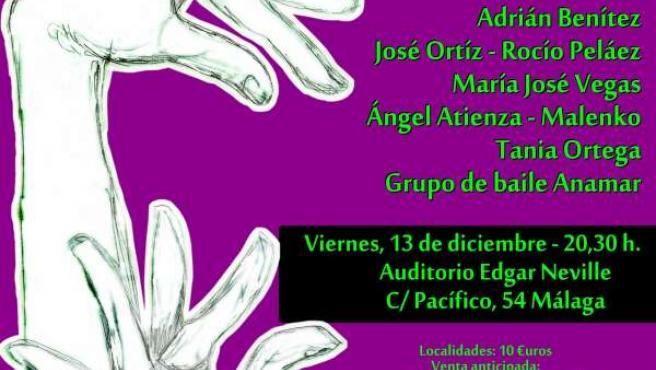 Cartel de la gala de la Asociación contra la Fibrosis Quística de Málaga