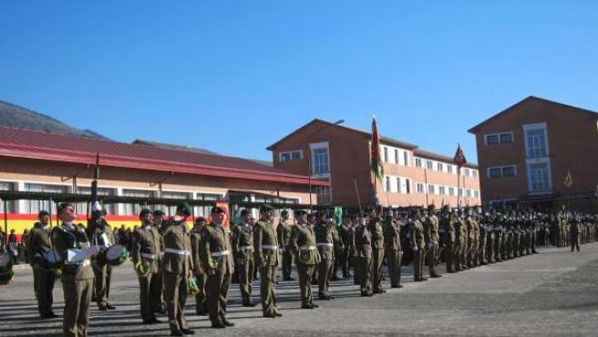 Parada militar del Regimiento de Cazadores de Montaña América 66
