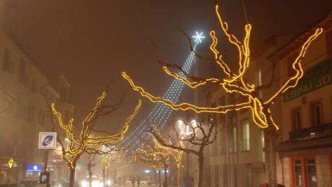 Arranca la campaña de Navidad en las principales vías comerciales de Fraga.