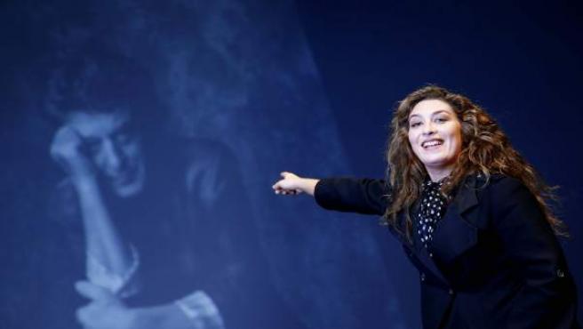 La cantaora de flamenco, Estrella Morente, durante la presentación del memorial 'Morente Más Morente' en el Teatro Español.