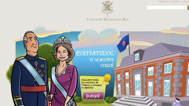 Área infantil puesta en marcha por la web de la Casa Real.