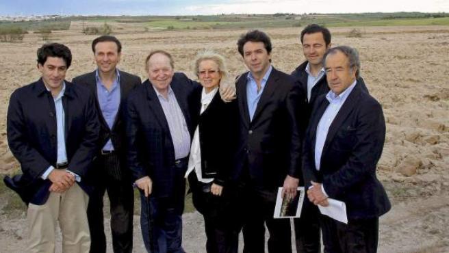 El propietario de la empresa Las Vegas Sands (3i), durante su visita a los terrenos ubicados en el mencionado municipio.