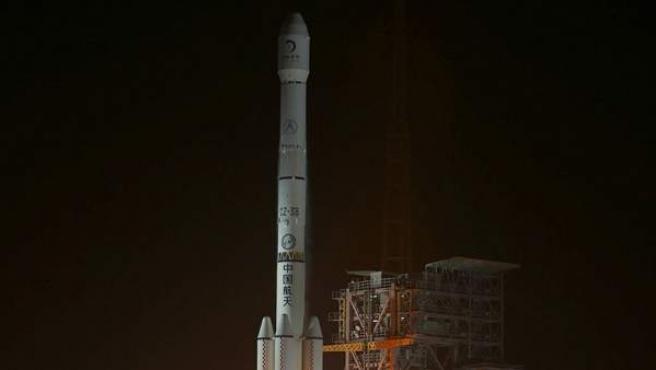 Imagen del lanzamiento de la sonda Chang E3.