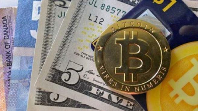 Bitcoin, moneda virtual creada en 2008.