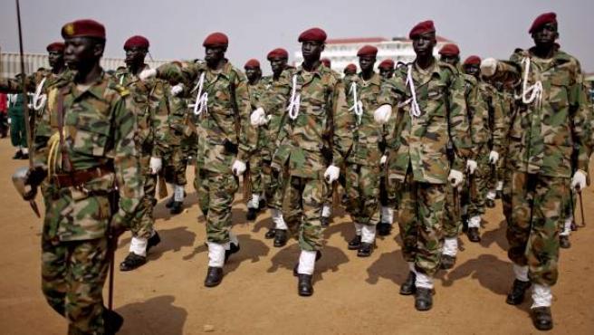 Una imagen del ejército gubernamental de Sudán del Sur.