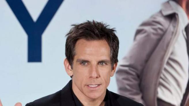"""El actor estadounidense Ben Stiller durante la presentación de la película """"La vida secreta de Walter Mitty"""", en Madrid."""