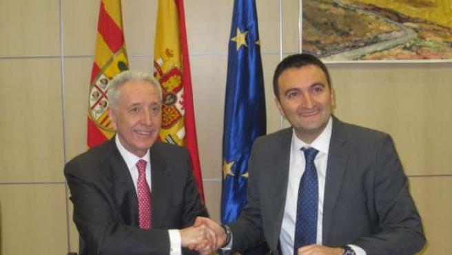 Modesto Lobón y Ricardo Ger, en la firma del acuerdo