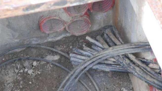 Cable de cobre sustraido