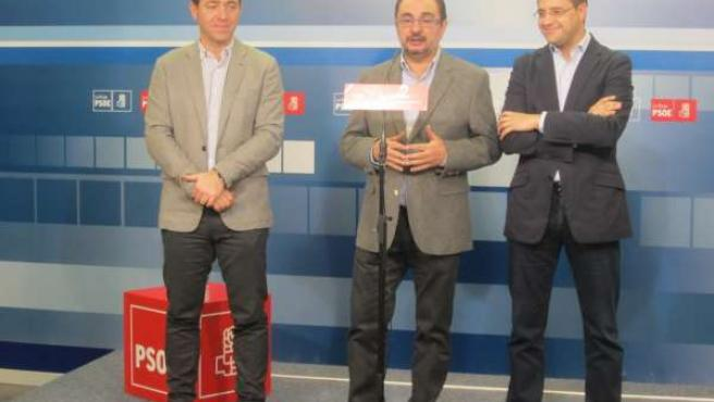 Roberto Jiménez, Javier Lambán y César Luena