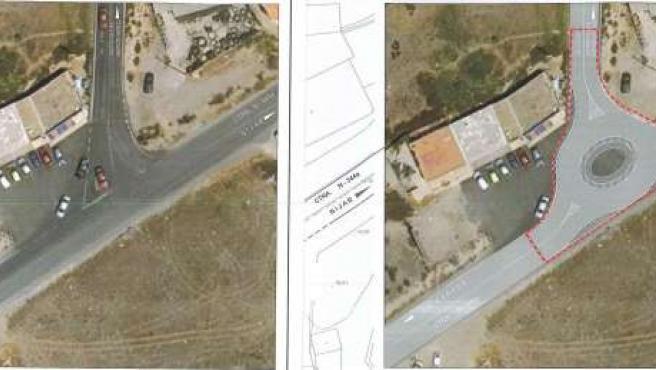 Glorieta a construir en el nudo entre autovía del aeropuerto y La Cañada
