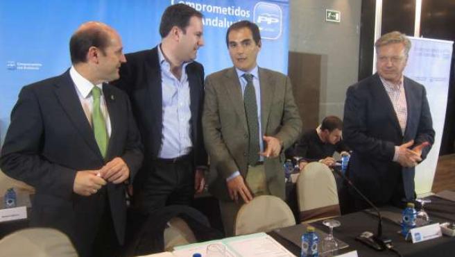 José Antonio Nieto con Molina, Cabello de Alba y Primo Jurado