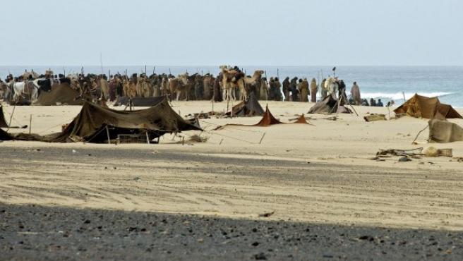 Momentos del rodaje de la superproducción dirigida por Ridley Scott 'Exodus' en Fuerteventura.