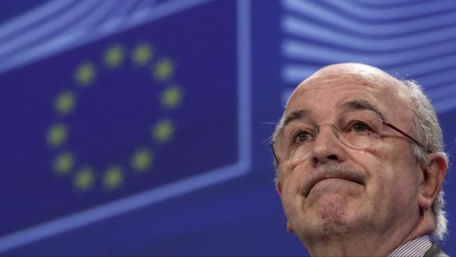 El comisario europeo de Competencia, en rueda de prensa