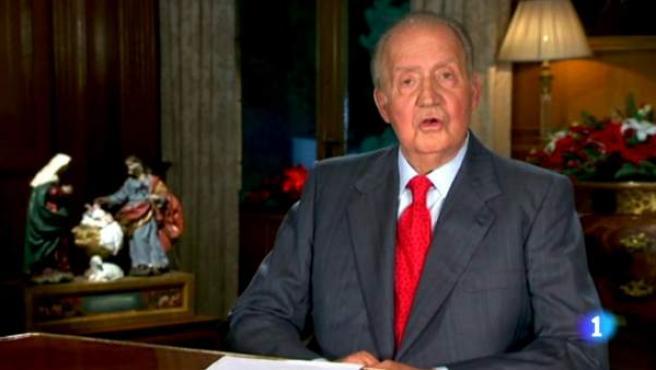 El rey Juan Carlos en su tradicional mensaje de Navidad.