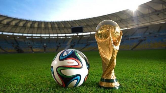 Imagen promocional del 'brazuca', el balón diseñado por Adidas para el Mundial de Brasil 2014.