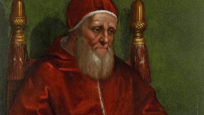 El Papa Julio II retratado por Rafael Sanzio en un cuadro datado entre 1511 y 1512