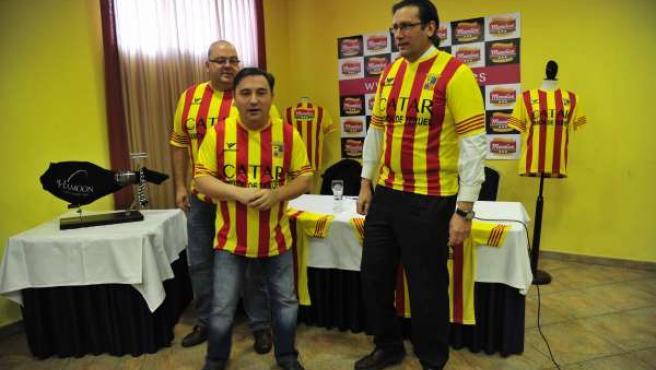 La empresa Manolica regala la camiseta 'Catar Jamón de Teruel'.