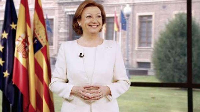 La presidenta de Aragón, Luisa Fernanda Rudi, en su discurso de fin de año