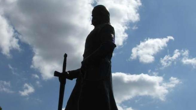 Estatua del Cid en el municipio de El Poyo del Cid