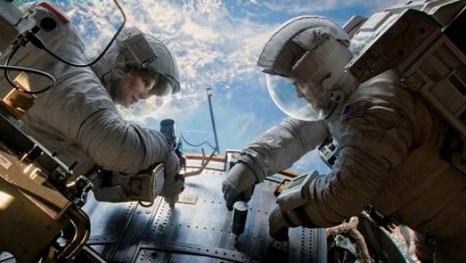 Una escena de 'Gravity', de Alfonso Cuarón