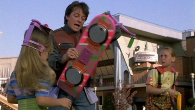 """Michael J. Fox, en una escena de la película """"Regreso al futuro""""."""