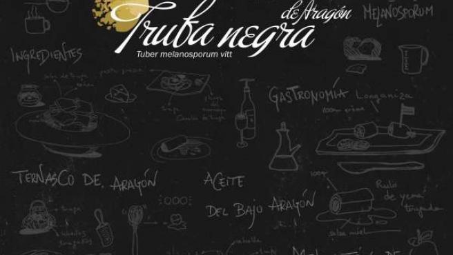Cartel sobre la trufa negra de Aragón