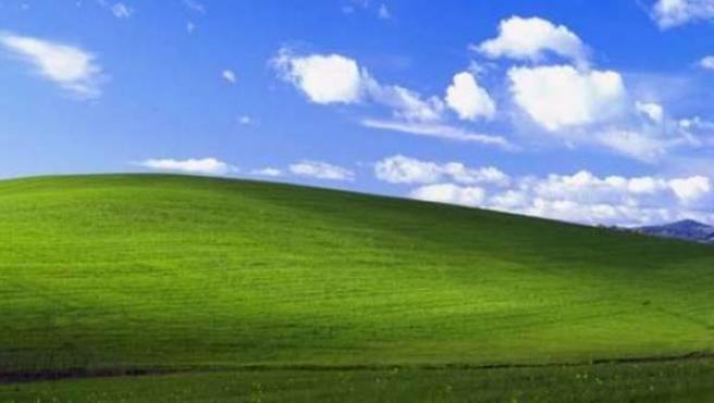 Imagen típica del fondo de escritorio de Windows XP.