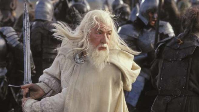 Ian McKellen en su papel de Gandalf.