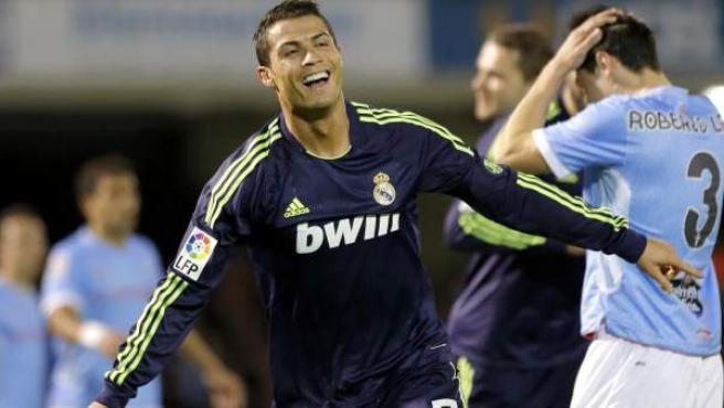 Cristiano Ronaldo celebra un gol ante el Celta de Vigo.