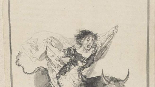 'Pesadilla', obra de Goya perteneciente al álbum E, uno de los ocho volúmenes de dibujos que el artista realizó por placer