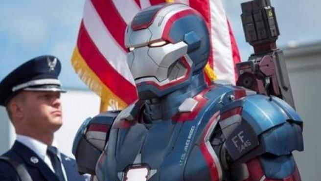 Una escena de la película Iron Man 3.